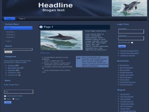 Dolphins Web Templates